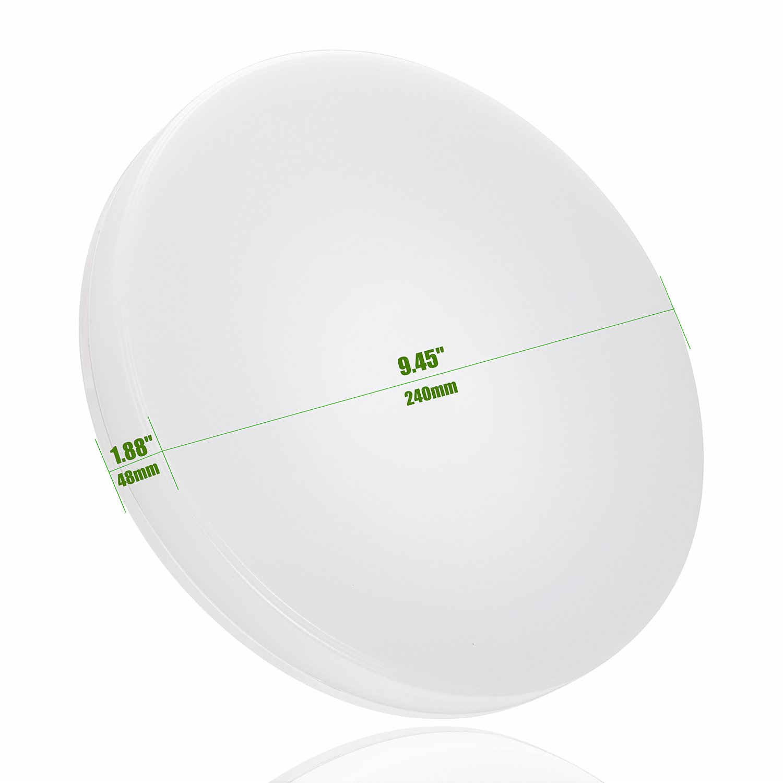 Deckenlampe LED,Öuesen 24W LED Deckenleuchte Neutralweiß Deckenlampe Bad  Wasserfest Deckenleuchte Für Badezimmer Flur Küche Wohnzimmer Schlafzimmer  ...