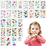 ANPHSIN 30PCS Kinder Tattoos, Einhorn Tattoos Set, Dinosaurier Tattoos Set, Kinder Aufkleber Sticker...