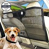 AutoEC Pet Sicherheit Net, universal Auto Pet Hund Kinder Net Barrier, Rücksitz Mesh blockiert Hunde Zugang zu Auto Vordersitze mit Haken und Gurte für Auto, Van, SUV und LKW