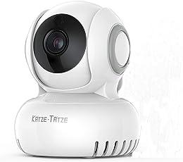 Überwachungskamera IP Kamera Wlan Baby Monitor WiFi 270°/120°Schwenkbar, Zwei-Wege-Audio mit Bewegungserkennung, Nachtsicht, 720P HD unterstützt Foto- und Videofunktionen, Mobile App Kontrolle einfache Nutzung