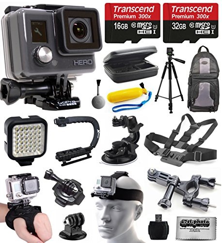 gopro-hd-hero-waterproof-action-camera-camcorder-chdha-301-with-48gb-accessories-bundle-with-tripod-