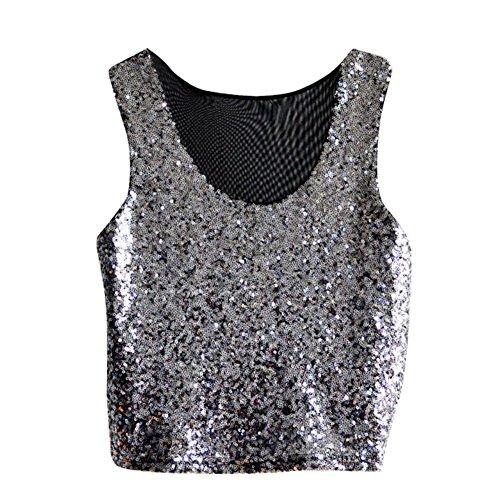Wodery - maglia sportiva -  donna argento taglia unica