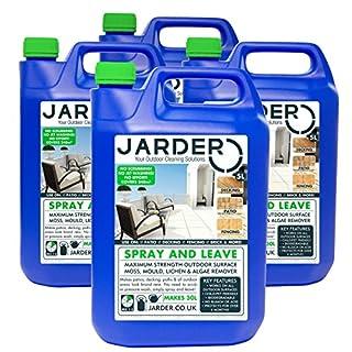 Jarder Spray & Leave 4 x 5 Litre Concentrate Cleaner - Patio Fencing Decking - Moss Mould & Algae Killer
