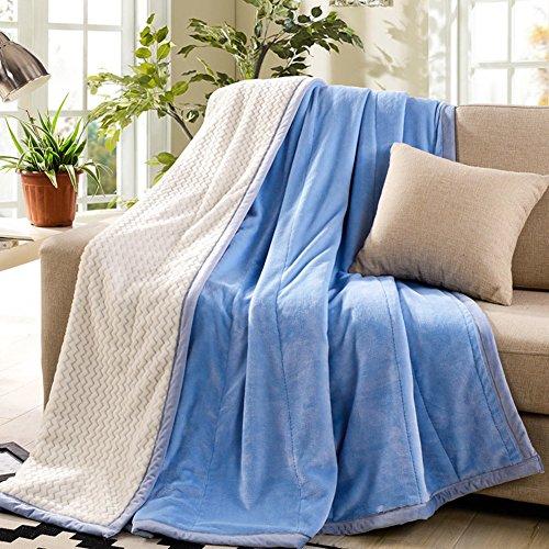 LJ&XJ Weiche dicke decken,Throw blanket doppel warm breathable queen König Full size für alle jahreszeiten bett couch camping oder reisen-B 200x230cm(79x91inch) (Full-size-bett Für Kleinkind)