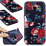 Samsung Galaxy A5 2017 Black Case,Samsung Galaxy A5 2017 TPU Case,COZY HUT Scratch Resistant TPU Bumper Clear Flexible Silicone Back Soft Protective Case Cover for Samsung Galaxy A5 2017,[Soft][Slim][Shock Absorption] Samsung Galaxy A5 2017 Back Case,Premium Samsung Galaxy A5 2017 Protector Case,Lightweight Protective Bumper Cover For Samsung Galaxy A5 2017 - Red roses