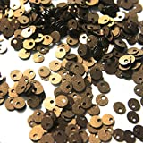 #4: Sequins for craft, Embroidery, Jewellery making art and DIY Kit, 4MM, Antique Gold Color,Round Shape Pearl Finish Top Hole (50 Gram)