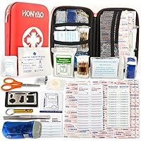Botiquín de Primeros Auxilios de 175 artículos, Survival Tools Mini Box - Bolsa Médica para Emergencias al Aire Libre para Emergencias en El Hogar Lugar de Trabajo para Acampar en El Auto Senderismo Hunting Aventuras