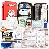 Kompakt Erste Hilfe Set mit 175 Teilen Harte Tasche- Mini First Aid Kit - Wasserdichte Medizinische Notfalltasche für Reisen, Auto, Zuhause, Büro, Camping, Arbeitsplatz, Wandern, Jagd und Abenteuer