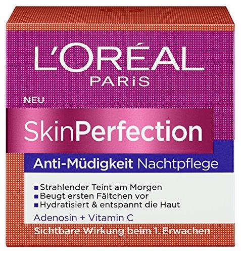 L\'Oreal Paris SkinPerfection Anti-Müdigkeit Gesichtspflege, für die Nacht, sichtbar erholte und prallere Haut, 50 ml