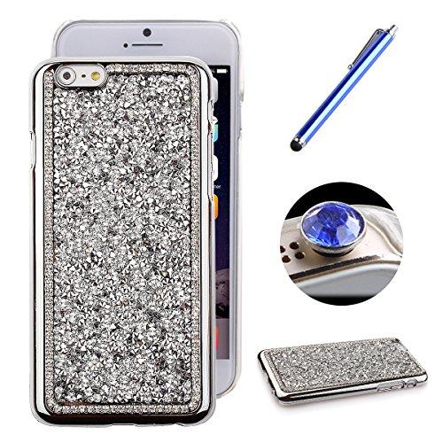 Etche Luxe iphone 6 Coque, Hard Case pour iphone 6 4.7 pouces,Sparkly Bling clouté strass diamant dur Retour Case pour Apple iphone 6,iphone 6 scintillement de Bling dur de couverture peau cas de prot argent