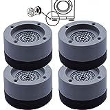 4 Pièces Tapis Anti-vibration pour Machine à Laver, Tampons Pieds en Caoutchouc Anti-Vibrations, pour Machine à Laver, Réfrig
