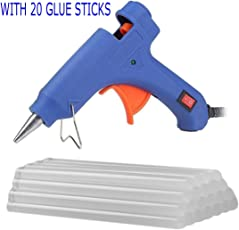 Genric 20W High Temperature Glue Gun for DIY Craft Projects and Repair Kit (Blue, 20)