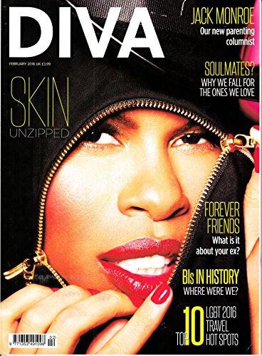 Diva (UK) 1 2016 Skin Deborah Anne Dyer Skunk Anansie Zeitschrift Magazin Einzelheft Heft LGBT (Skunk Skins)