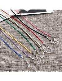 Gafas de lectura, cordón, cadena para gafas, cuerda de cera, cadena de cordón (color al azar)