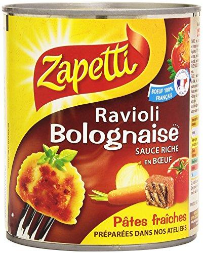 Zapetti Ravioli Bolognaise la Boîte 800 g - Lot de 4