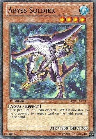 Yu-Gi-Oh! - Abyss Soldier (SDRE-EN014) - Structure Structure Structure Deck: Realm of the Sea Emperor - 1st Edition - Common by Yu-Gi-Oh! | Exquis Art  c6928f