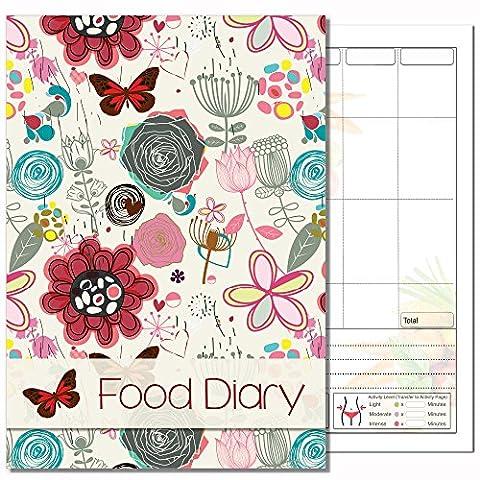 Lebensmittel Diary, Ernährung Diary, Gewichtsreduzierung Diary, Diät & Gewicht Verlust, Ihre eigenen Text, (New Butterfly