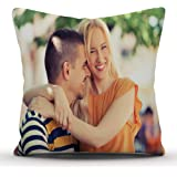 k1gifts Personalized White Satin Photo Cushion/Pillow 12*12 inch