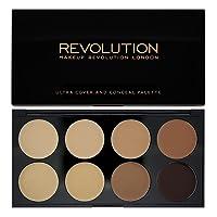 Makeup Revolution Ultra Cover and Concealer Palette Medium/Dark, 22g by Makeup Revolution London