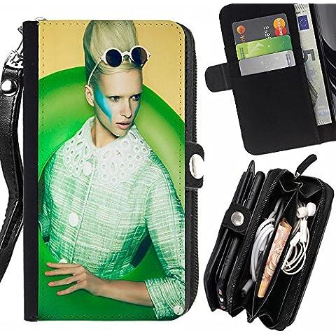 Subgiant Art & Design Plastica Dura Guscio Protettivo Cassa Cover HTC Desire 825 ( Retro Blonde Occhiali da sole Modello )