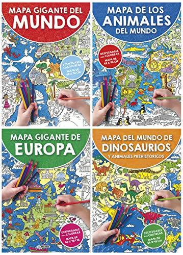 Mapa gigante colorear 4 títulos Mapas gigantes colorear