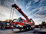 Feuerwehrkran (FKW) 1000 Teile Puzzle Quer für Feuerwehrkran (FKW) 1000 Teile Puzzle Quer