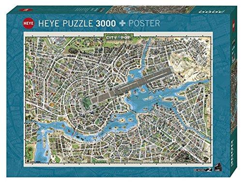 Heye 29759 - Puzzle Standard, Ciudad de Pop 3000 Piezas, la colección del Mundo