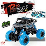 US1984 2018 1:36 4WD Rally Cars Crawler Off Road Race Monster Truck, Metal Car, Big Rubber Tires, Metal Suspension 4x4 Pull Back Drive (Blue)