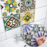 DMZH 100 STÜCKE Porto Style Fliesen Aufkleber Dekorative Aufkleber Reise Aufkleber Kreative Rutschfeste Selbstklebende Wandtattoos Floor Sticker,B15cm*15Cm