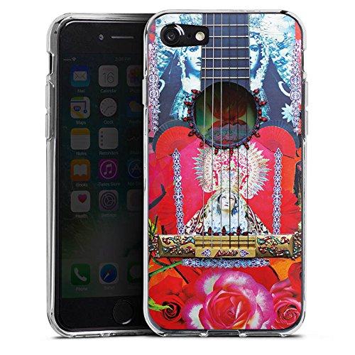 Apple iPhone X Silikon Hülle Case Schutzhülle Gitarre Rot Spanien Silikon Case transparent