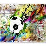 murando Papier peint intissé 300x210 cm Décoration Murale XXL Poster Tableaux Muraux Tapisserie Photo Trompe l'oeil Football Enfants i-C-0095-a-a