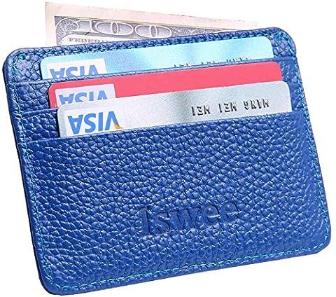 iswee en cuir de blocage RFID Pochettes cartes de crédit