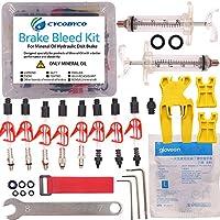Kit de purge de frein à disque hydraulique Cycobyco - Huile minérale - Pour vélos de toutes les séries Shimano/Magura/Tektro/Zoom/CSC/Echo/Giant/HS33/Nutt, Professional kit