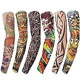 Kurtzy 6 Stück Tattoo Sleeves Armstrümpfe - Tattoo Ärmel Temporäre Tätowierung Nylon Sleeve - Echt Aussehende Ärmel - Tribale Designs und mehr