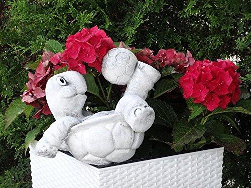 Steinfigur Nr.556 Fußball Schildkröte 11 Fussballspieler ca. 8 kg - 4