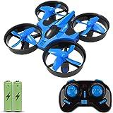 JoyGeek Kids, RC 2.4G 4CH 6Axis modalità Headless, 360° UFO Mini Drone quadricottero, capovolge & Rotoli di Telecomando One Key Return Elicottero (Blu)