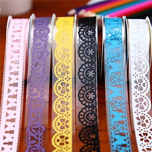 Tutoy 5Pcs Diy Spitze-Papier-Band-Abdeckungs-Klebriges Klebriges (Diy Spinnennetz Kostüm)