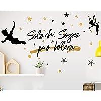 Adesivo Murale Wall Stickers Frase Citazione Adesivi Murali Decorazione interni Frase Solo chi sogna può volare Peter…