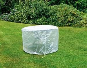 Happy People 79275 Housse de protection pour table de jardin Transparent