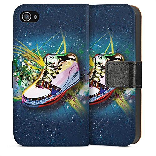 Apple iPhone 5s Housse Étui Protection Coque Chaussures Chaussures Baskets Sideflip Sac