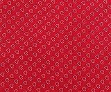 Rotes Herz-Druck Nähen Crafting Schneiderei 42 Zoll breite