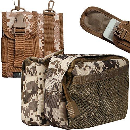 xhorizon® Hochdicht Wasserfest Militärtuch Fahrrad Radfahren RahmenPannier Seitentasche Front Tube Bag Double Side Bag Tactical Camouflage Style Camouflage Khaki