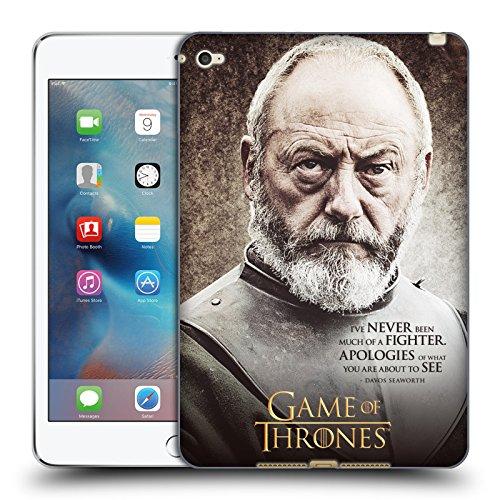 Preisvergleich Produktbild Offizielle HBO Game Of Thrones Davos Seaworth Zeichen Zitate Soft Gel Hülle für Apple iPad mini 4
