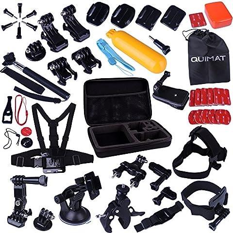 Quimat MH02 44-en-1 Kit d'Accessoires Sport de Plein Air Accessoire pour GoPro Hero 4 3+ 3 2 1 Sport Camera Accessories pour SJ4000 SJ5000 SJ6000 Caméra Sportif