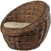 Preisvergleich für korb.outlet Kindersessel, Kinderstuhl rund aus Rattan mit Sitzpolster