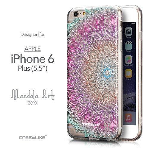CASEiLIKE Art Mandala 2093 Housse Étui UltraSlim Bumper et Back for Apple iPhone 6 / 6S Plus (5.5 inch) +Protecteur d'écran+Stylets rétractables (couleur aléatoire) 2090