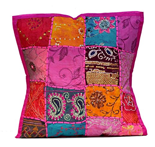 indian antique french cushions. 2 PC An Ethnic Embroidery Sequin Patchwork Throw Pillow Cases Cushion Cover Bohemian Vintage Embroidered Indian Antique French Cushions L