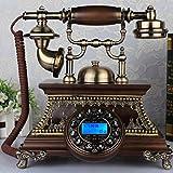 VOIP Telefone Im europäischen Stil Retro Massivholz europäischen Stil rotierende altmodische Wohnzimmer Telefon Telefon (27 * 22 * 26 cm) Retro Telefon