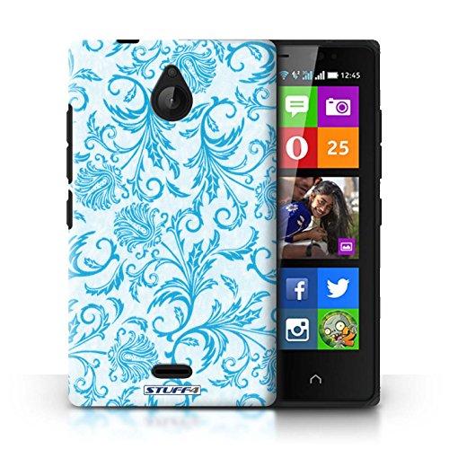 Kobalt® Imprimé Etui / Coque pour Nokia X2 Dual Sim / Fleurs Rouges conception / Série Fleurs Fleurs Bleues