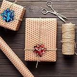 Relaxdays Fiocchetti per Pacchetti Regalo Set 100 Pezzi, Autoadesivi, Stelle Decorative per Natale e Compleanni, Rosso, 2 x 5 cm